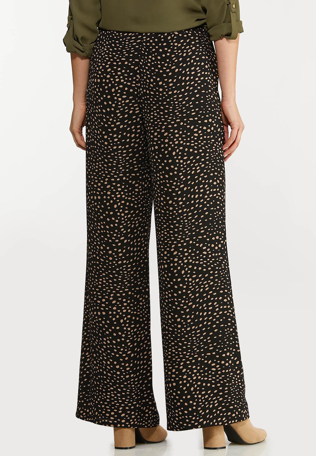 Dotted Crepe Palazzo Pants (Item #44113372)