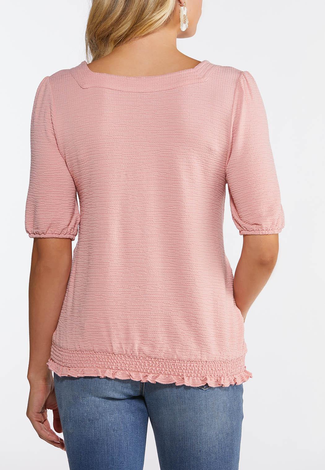 Plus Size Smocked Waist Top (Item #44113597)