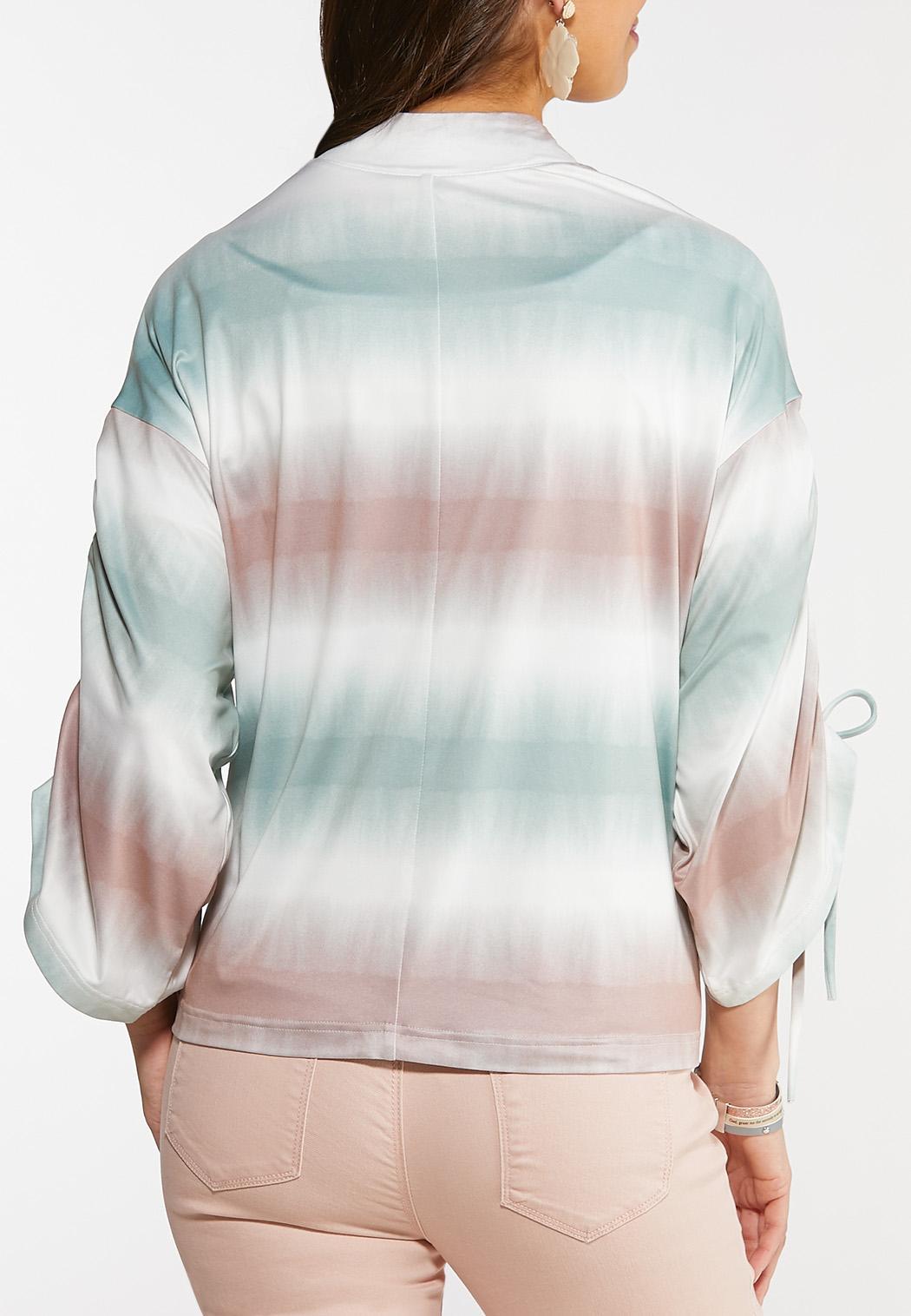 Plus Size Dip Dye Cardigan (Item #44113803)