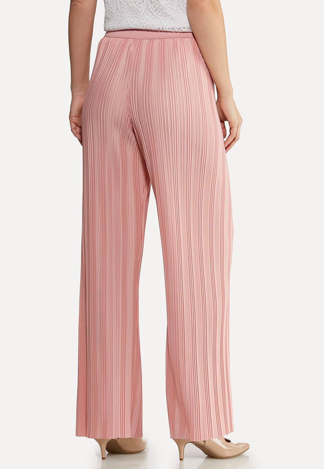 Petite Pink Pleated Pants (Item #44114694)