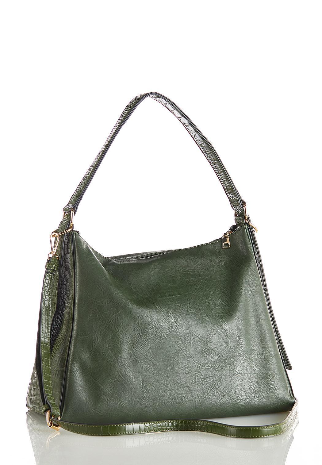 Croc Trim Hobo Handbag (Item #44114769)