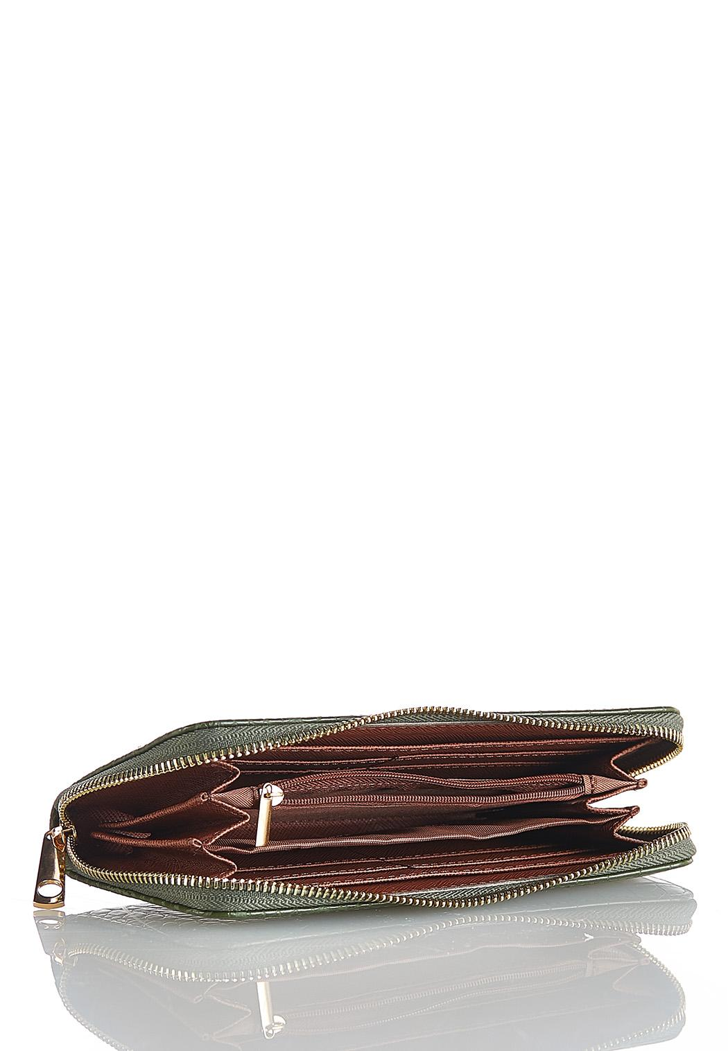 Olive Croc Wallet (Item #44114793)