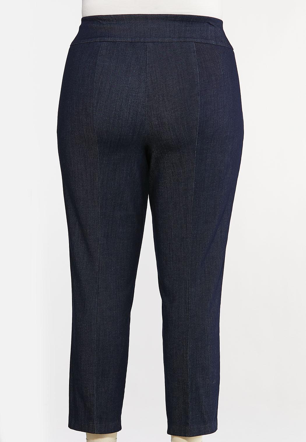 Plus Size Dressy Denim Pants (Item #44115969)