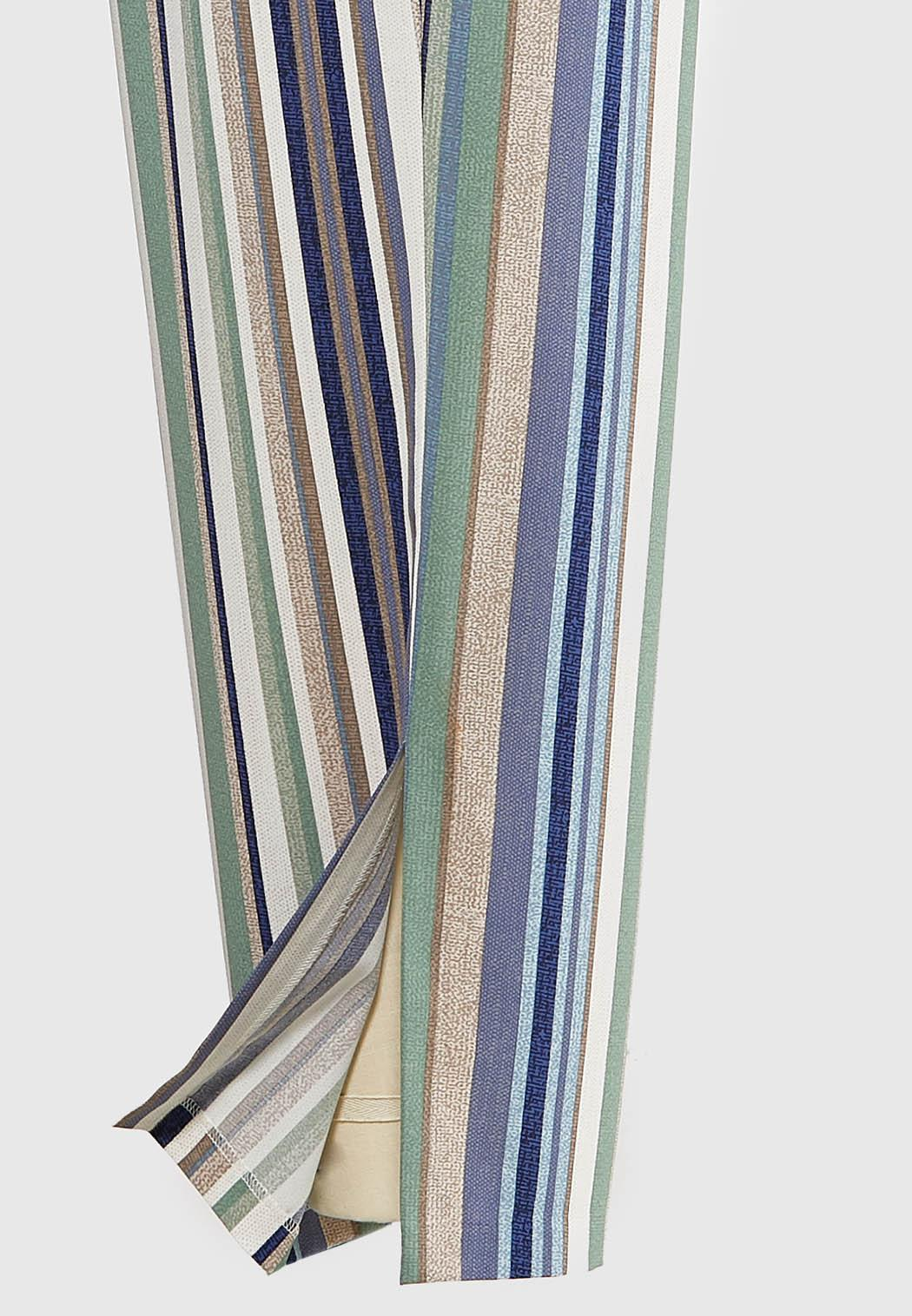 Plus Size Textured Stripe Pants (Item #44116155)