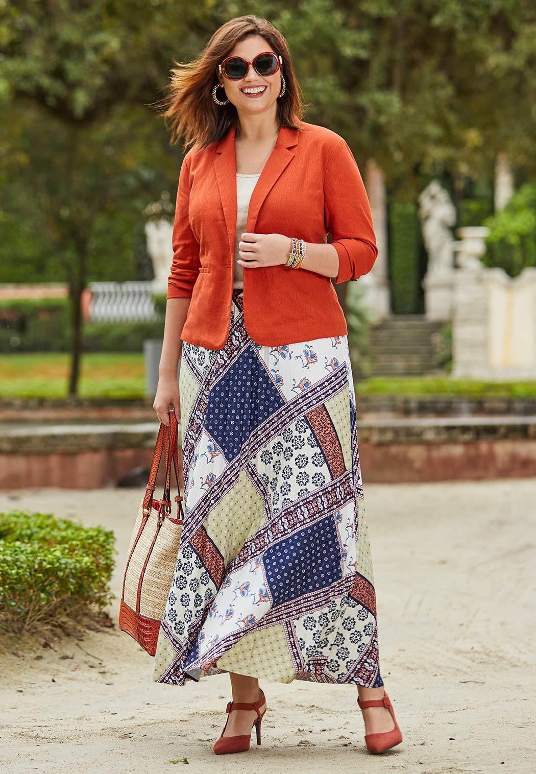 Plus Size Linen Blazer (Item #44116435)