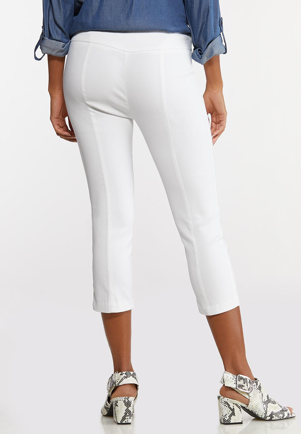 Cropped Belted Bengaline Pants (Item #44117052)