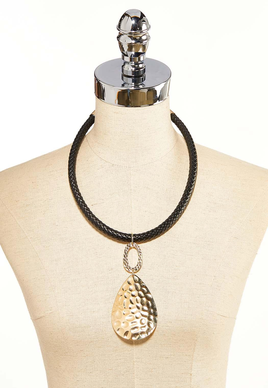 Hammered Tear Cord Necklace (Item #44118083)