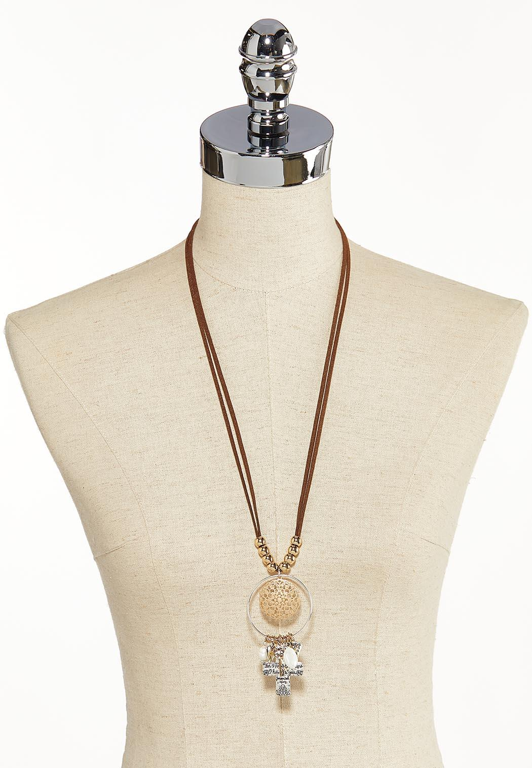 Inspirational Cord Charm Necklace (Item #44118130)