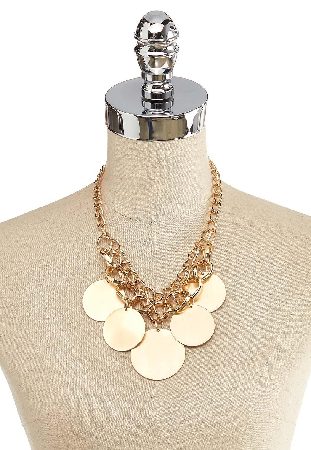 Brushed Gold Circle Necklace (Item #44118167)