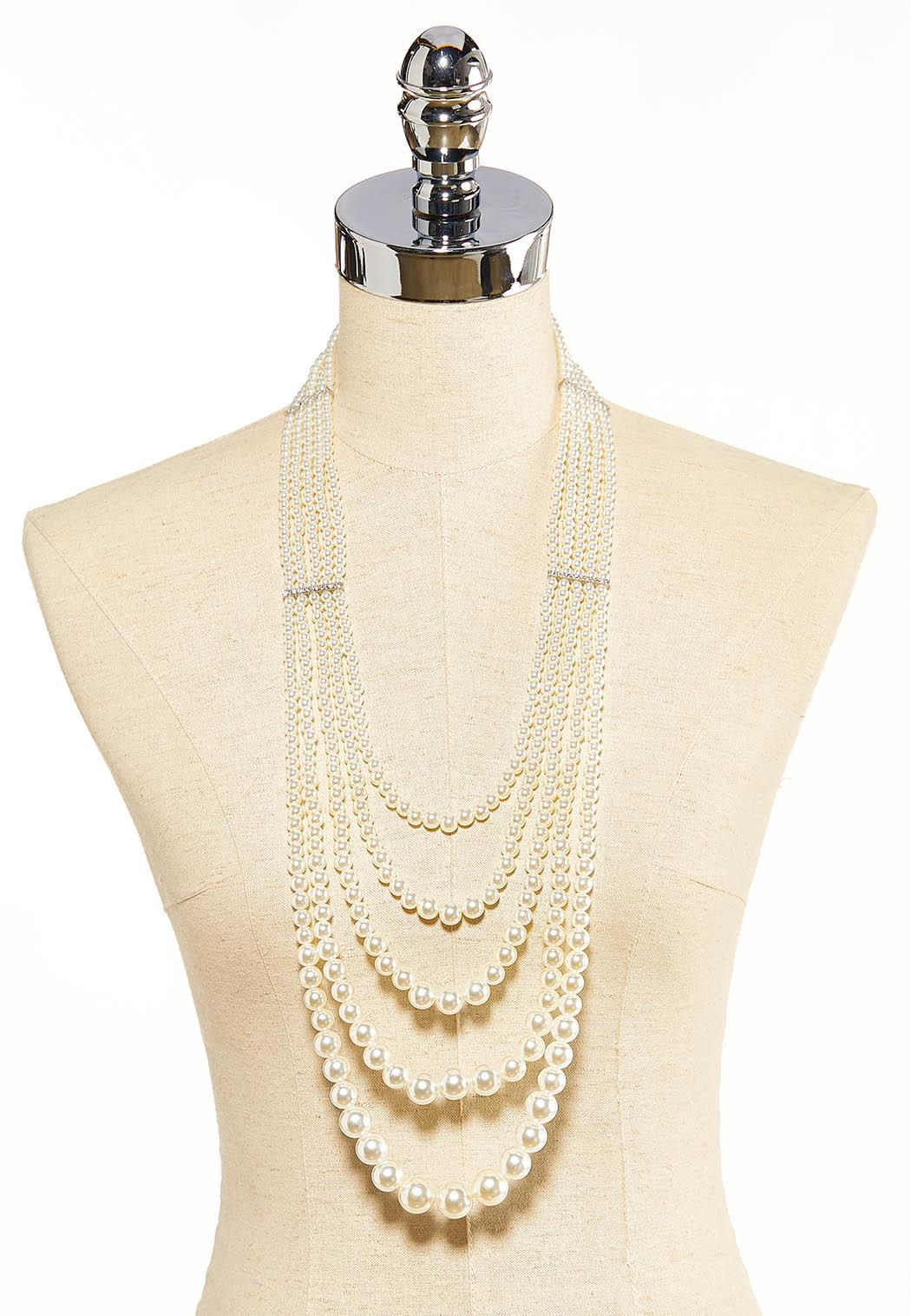 Layered Pearl Necklace (Item #44118202)