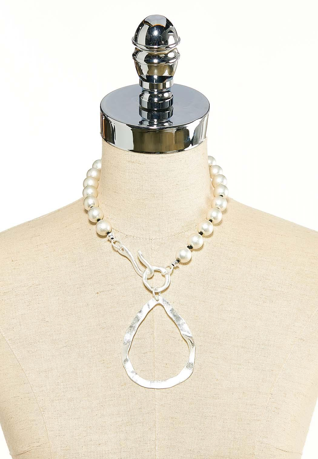 Hammered Tear Pendant Necklace (Item #44118480)