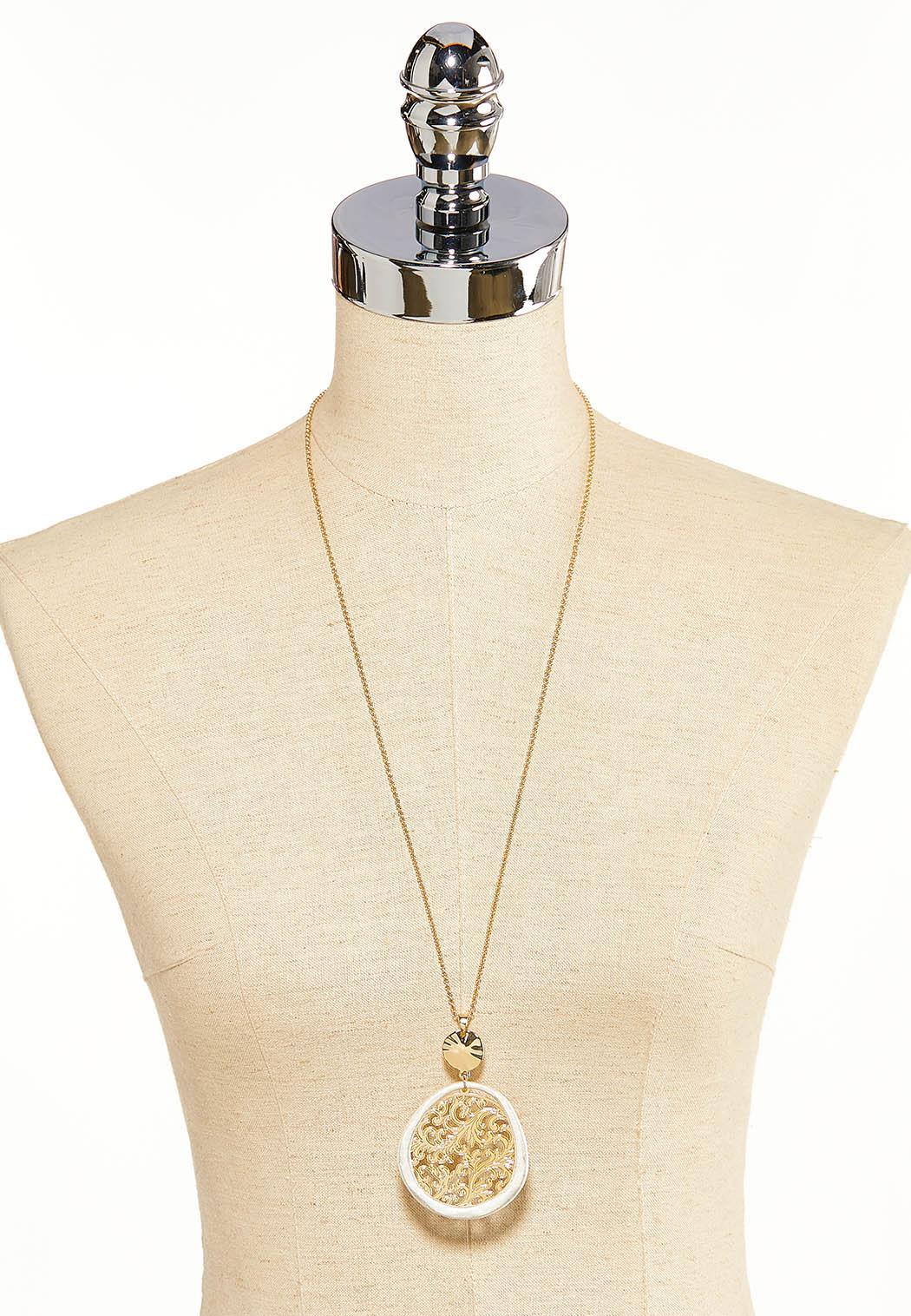 Filigree Circle Pendant Necklace (Item #44118594)