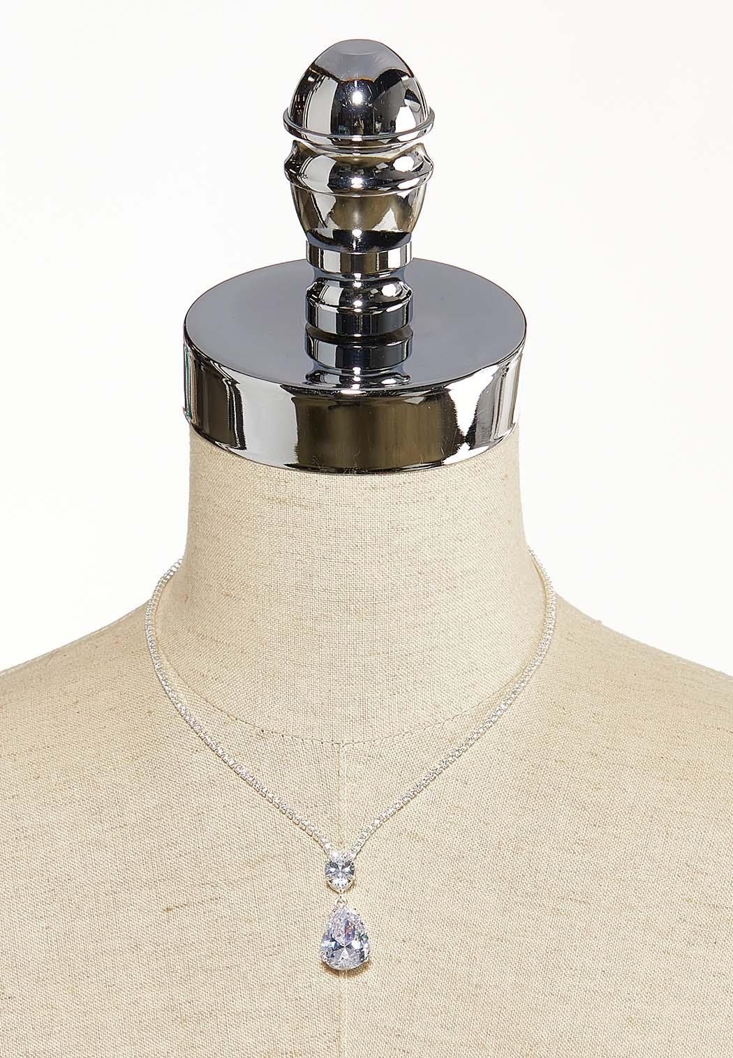 Sparkling Pear Pendant Necklace (Item #44118639)