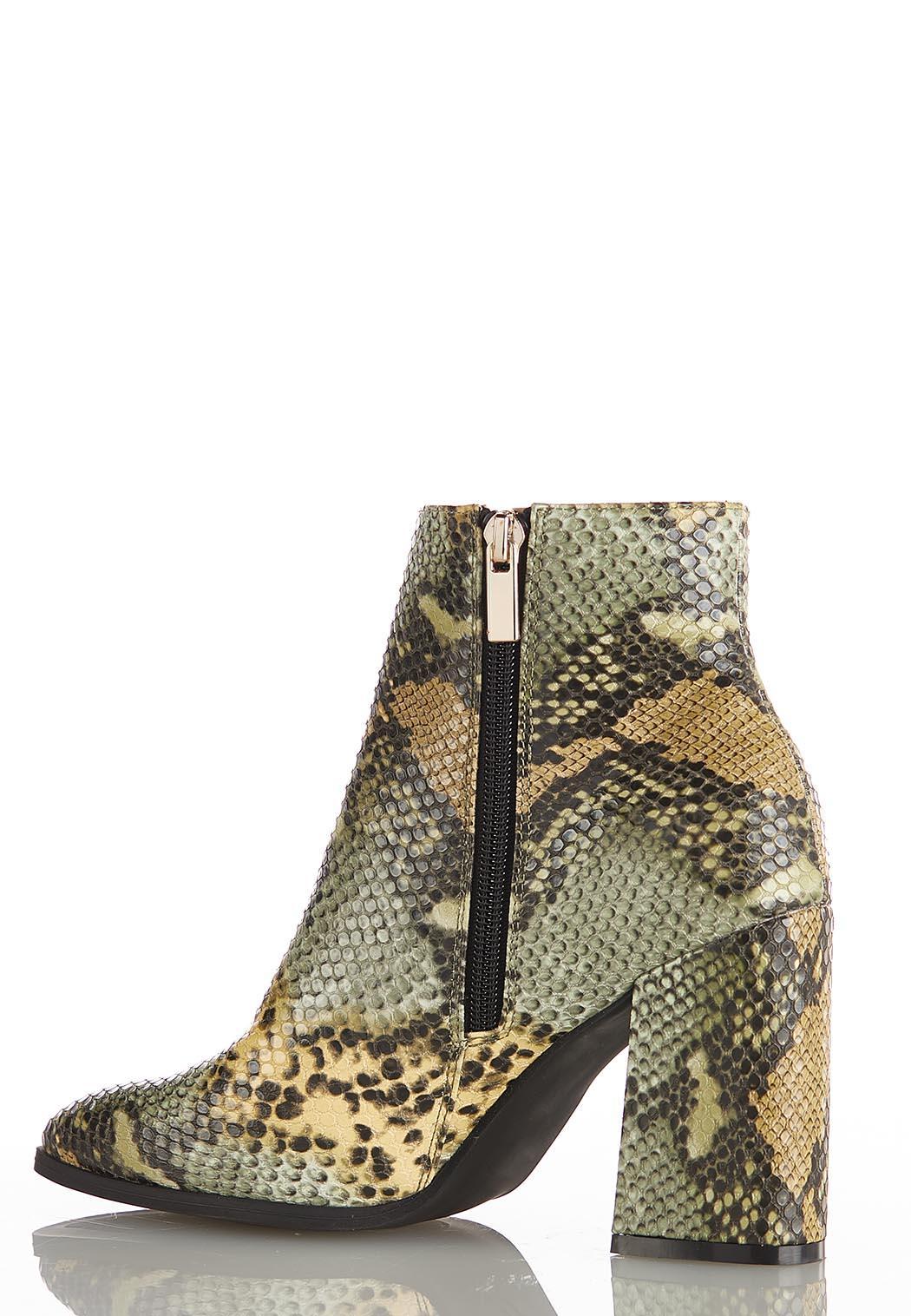Wide Width Green Multi Snakeskin Boots (Item #44118713)