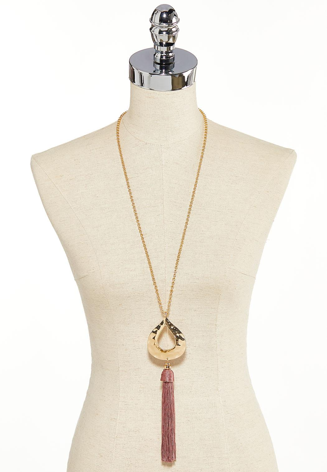 Hammered Tear Pendant Necklace (Item #44119161)