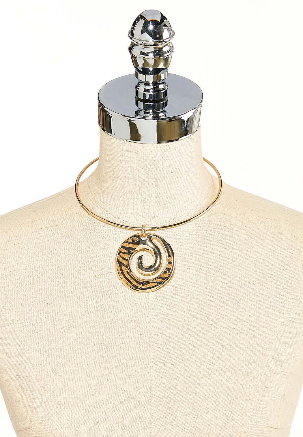 Swirly Leopard Wire Necklace (Item #44119222)