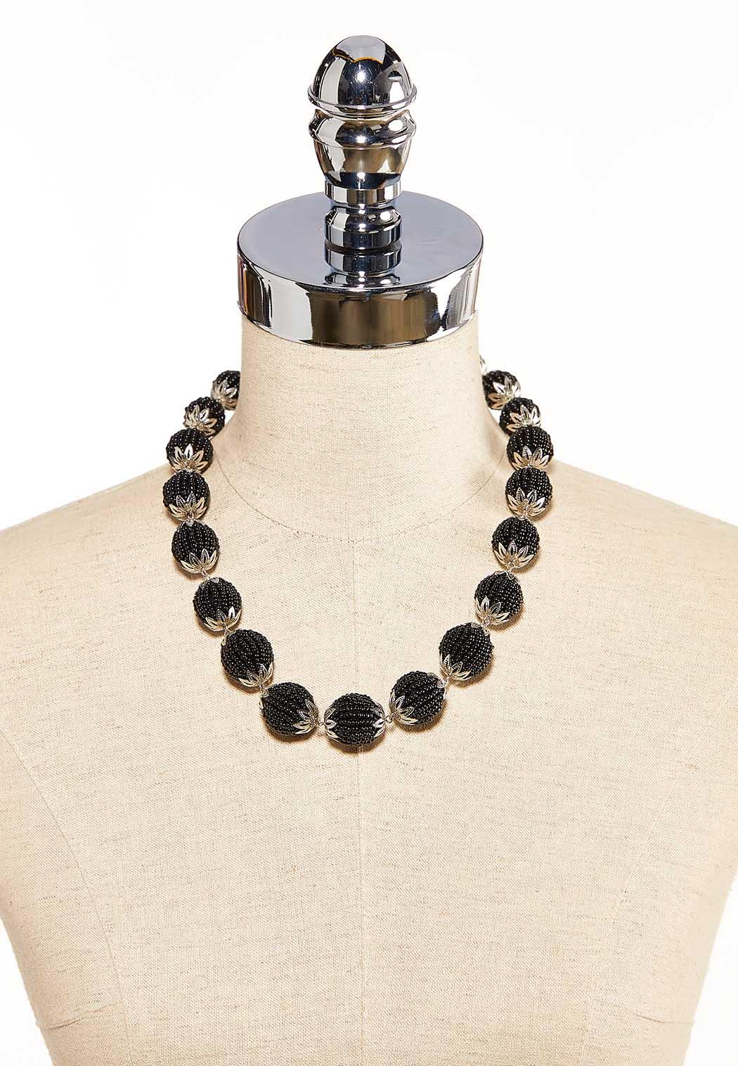 Circles Of Seed Beads Necklace (Item #44119241)