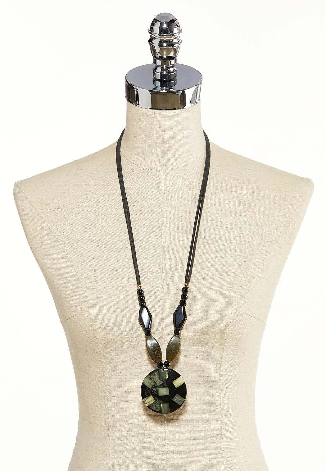 Beaded Resin Cord Necklace (Item #44119260)