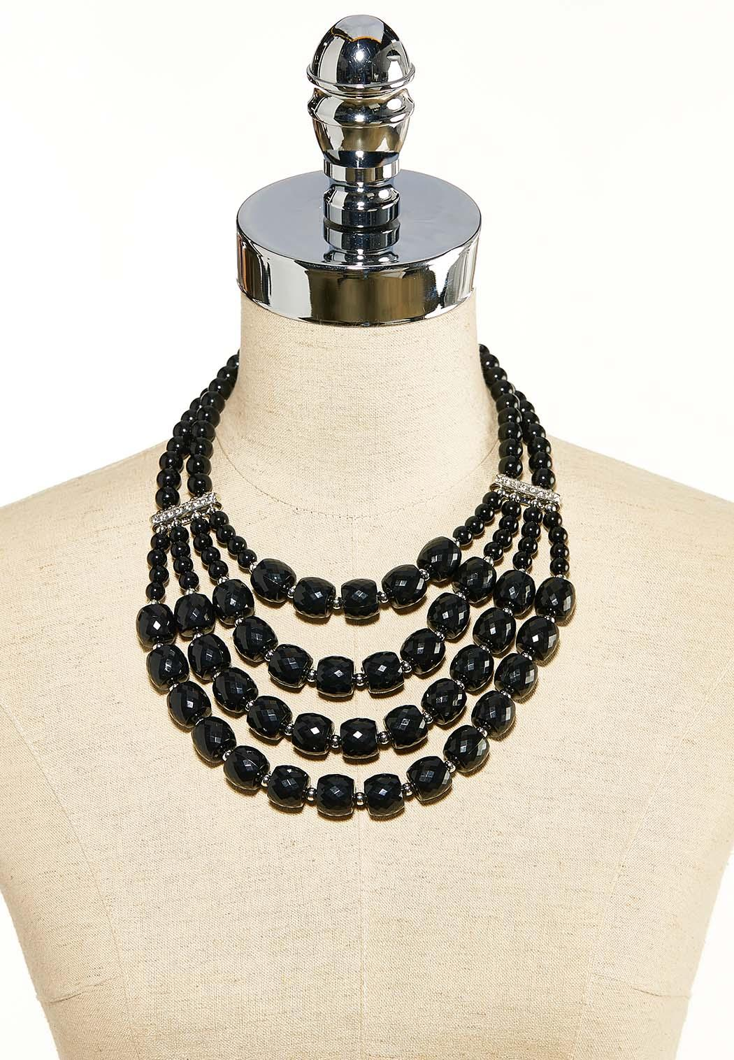 Midnight Acrylic Bib Necklace (Item #44119321)