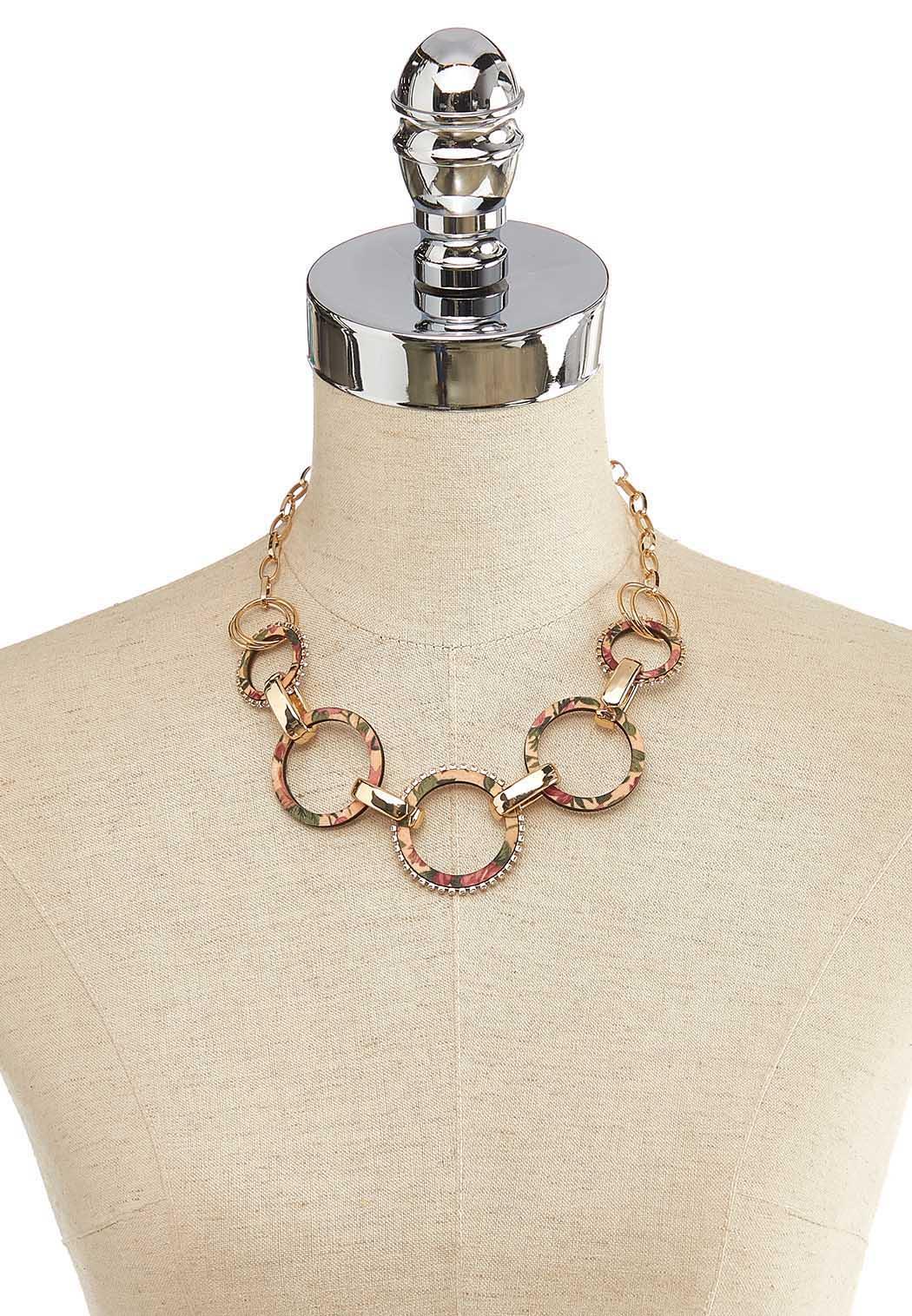 Printed Wood Link Necklace (Item #44119398)