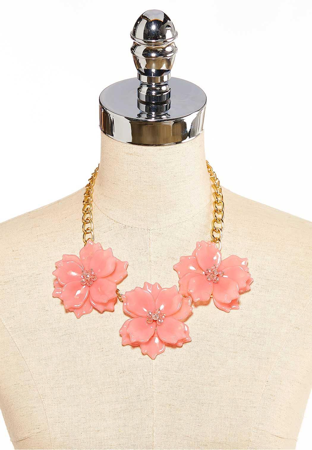 Pink Petal Bib Necklace (Item #44119513)