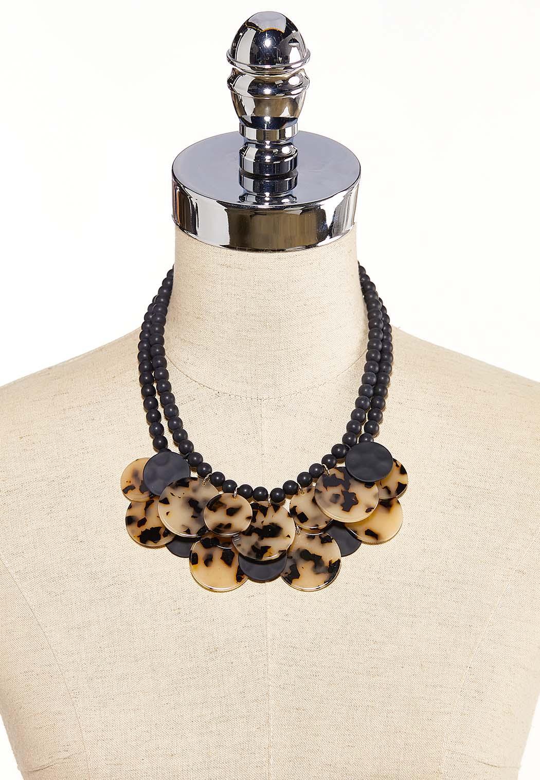 Lucite Disc Bib Necklace (Item #44119517)