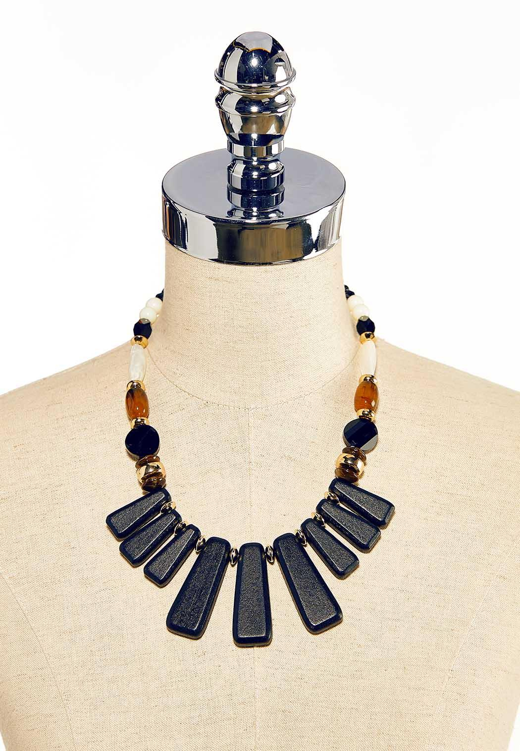 Mixed Bead Tribal Necklace (Item #44119597)
