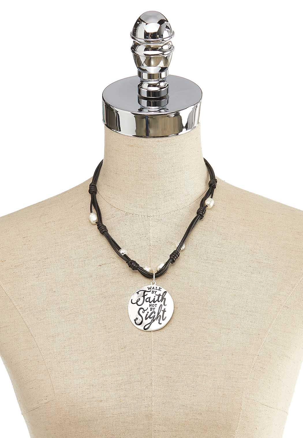 Walk By Faith Cord Necklace (Item #44121067)