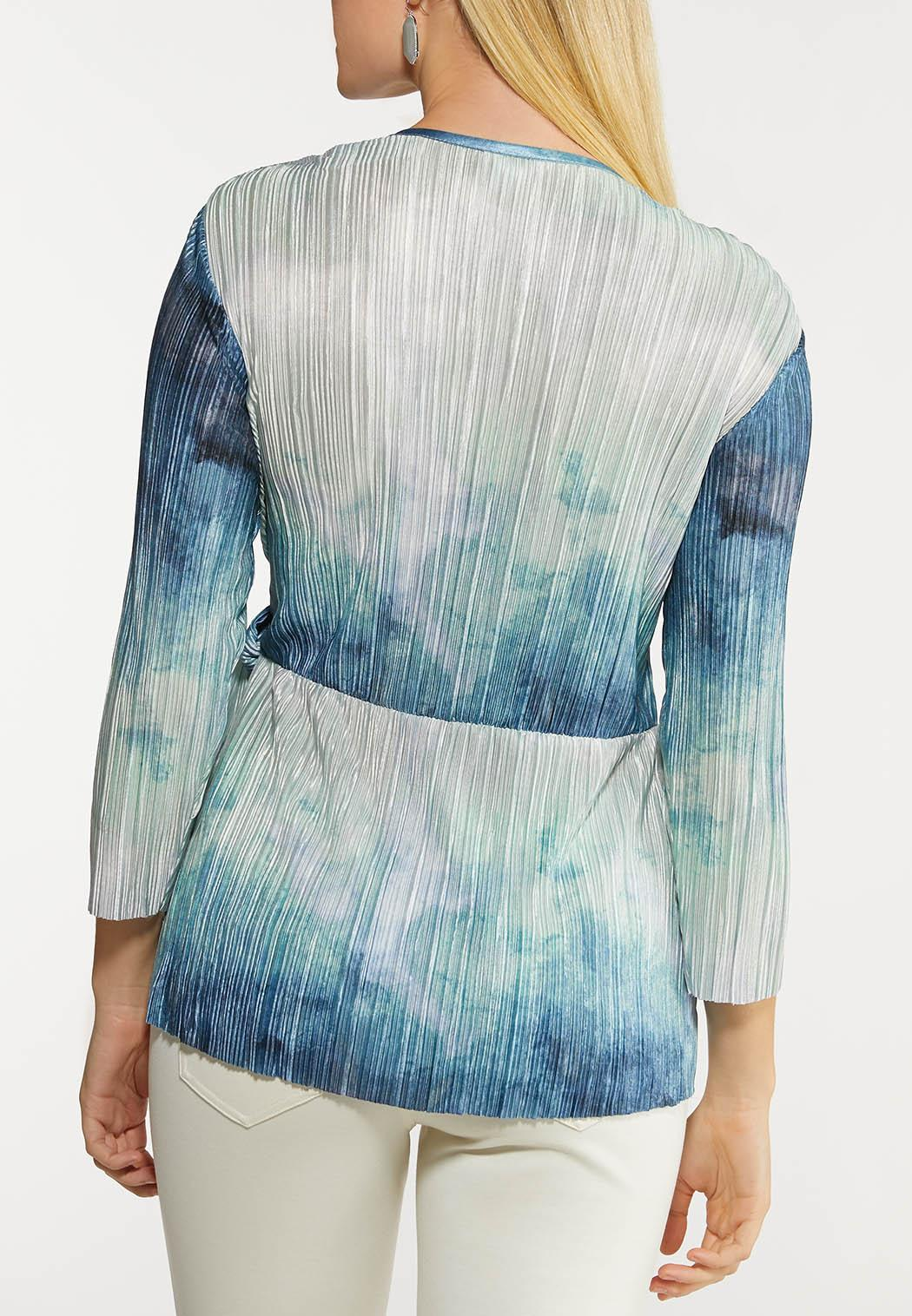 Pleated Wrap Top (Item #44121126)