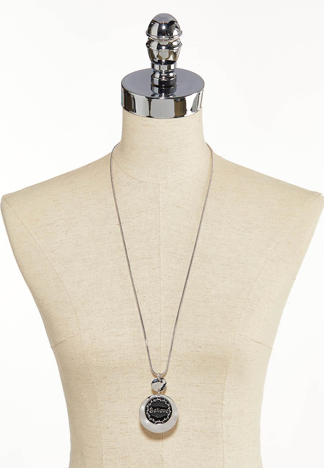Believe Circle Pendant Necklace (Item #44121266)