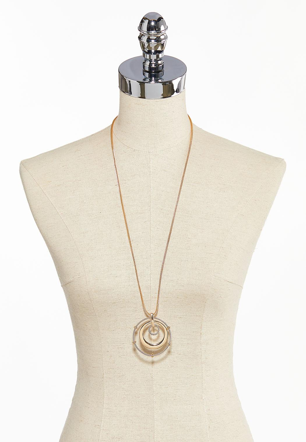 Circle Pendant Long Necklace (Item #44121470)