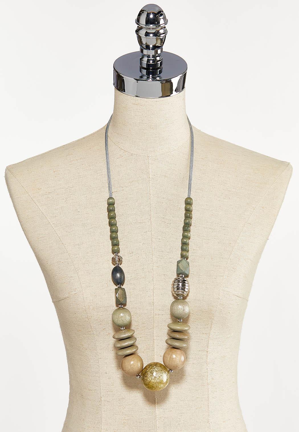 Multi Wood Bead Necklace (Item #44121623)