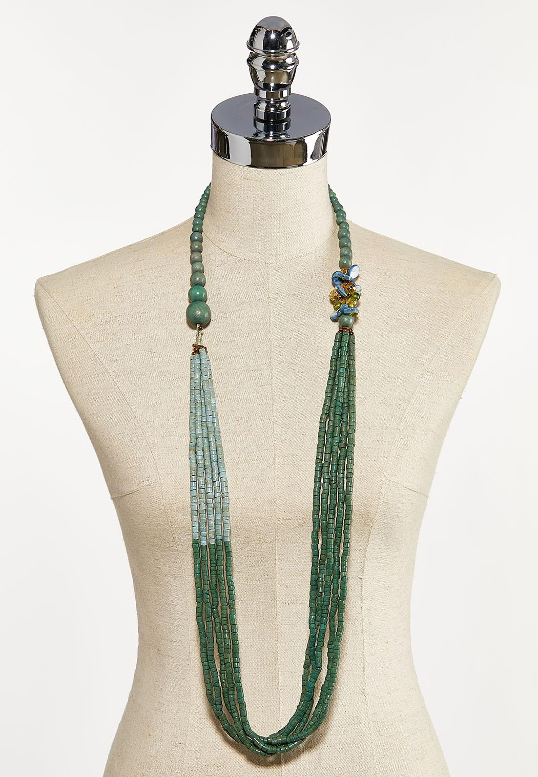 Colorblock Bead Layered Necklace (Item #44121630)