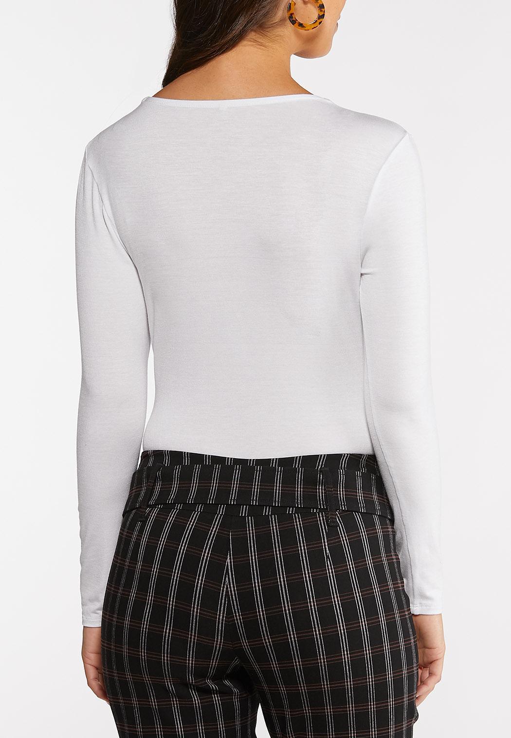 Surplice Knit Bodysuit (Item #44122373)