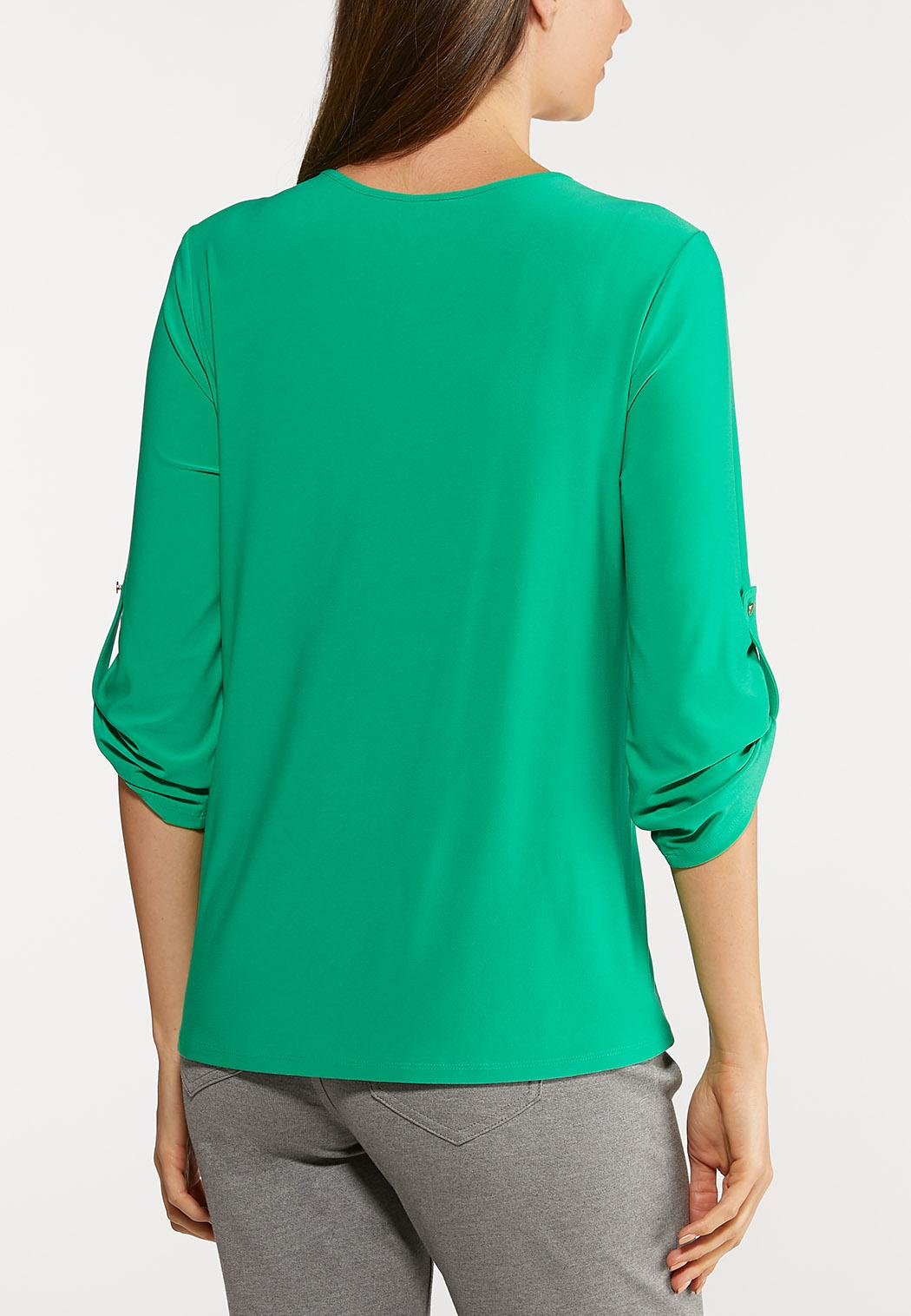 Plus Size Side Twist Top (Item #44124164)