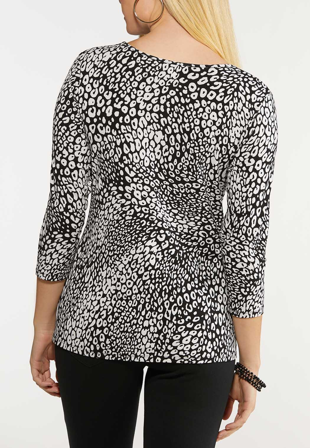 Black And White Leopard Top (Item #44124293)