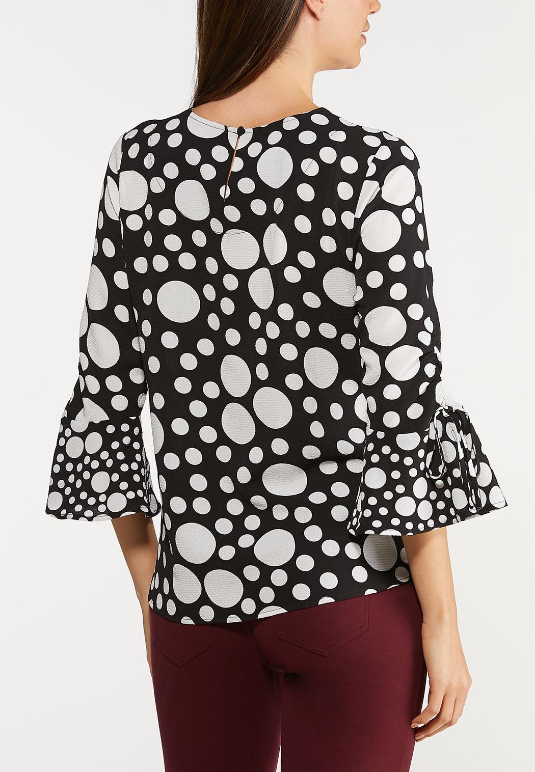 Dot Scrunch Sleeve Top (Item #44124651)