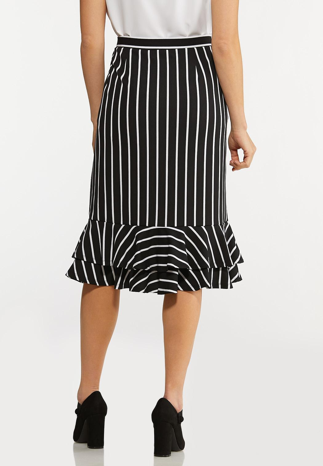 Stripe Tiered Ruffle Skirt (Item #44124719)