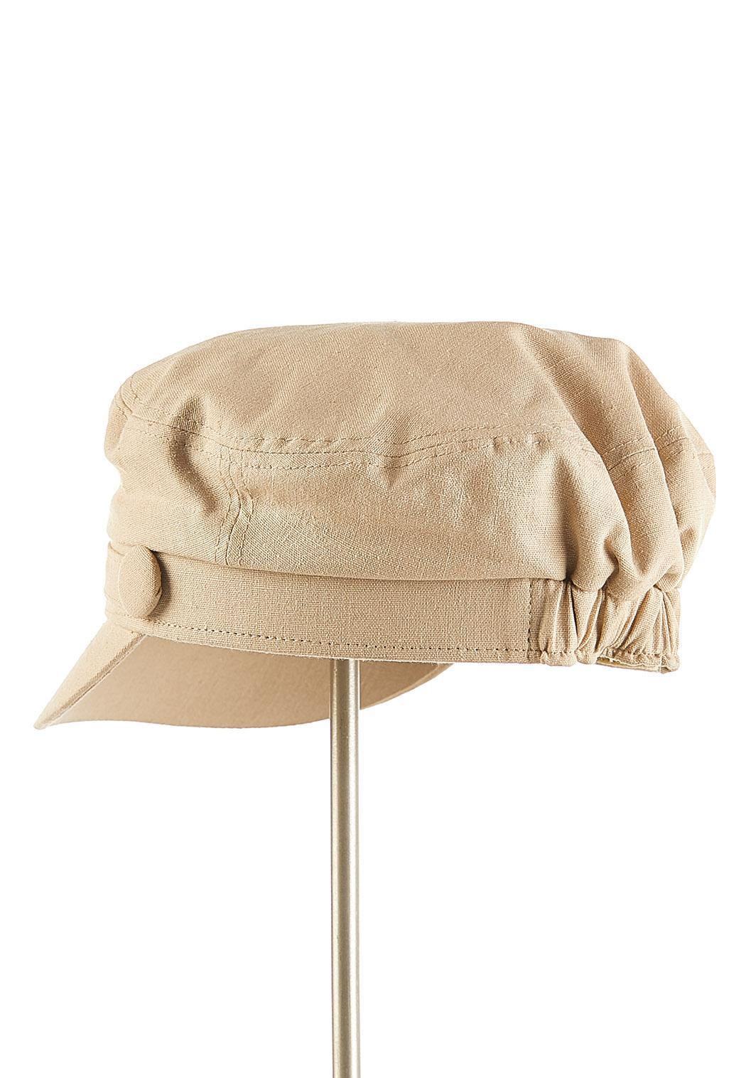 Solid Linen Cabbie Hat (Item #44124779)