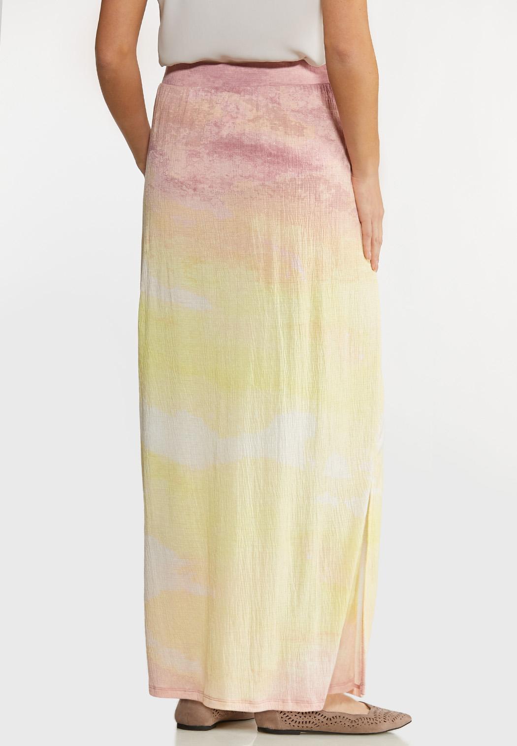 Gauze Tie Dye Maxi Skirt (Item #44124802)