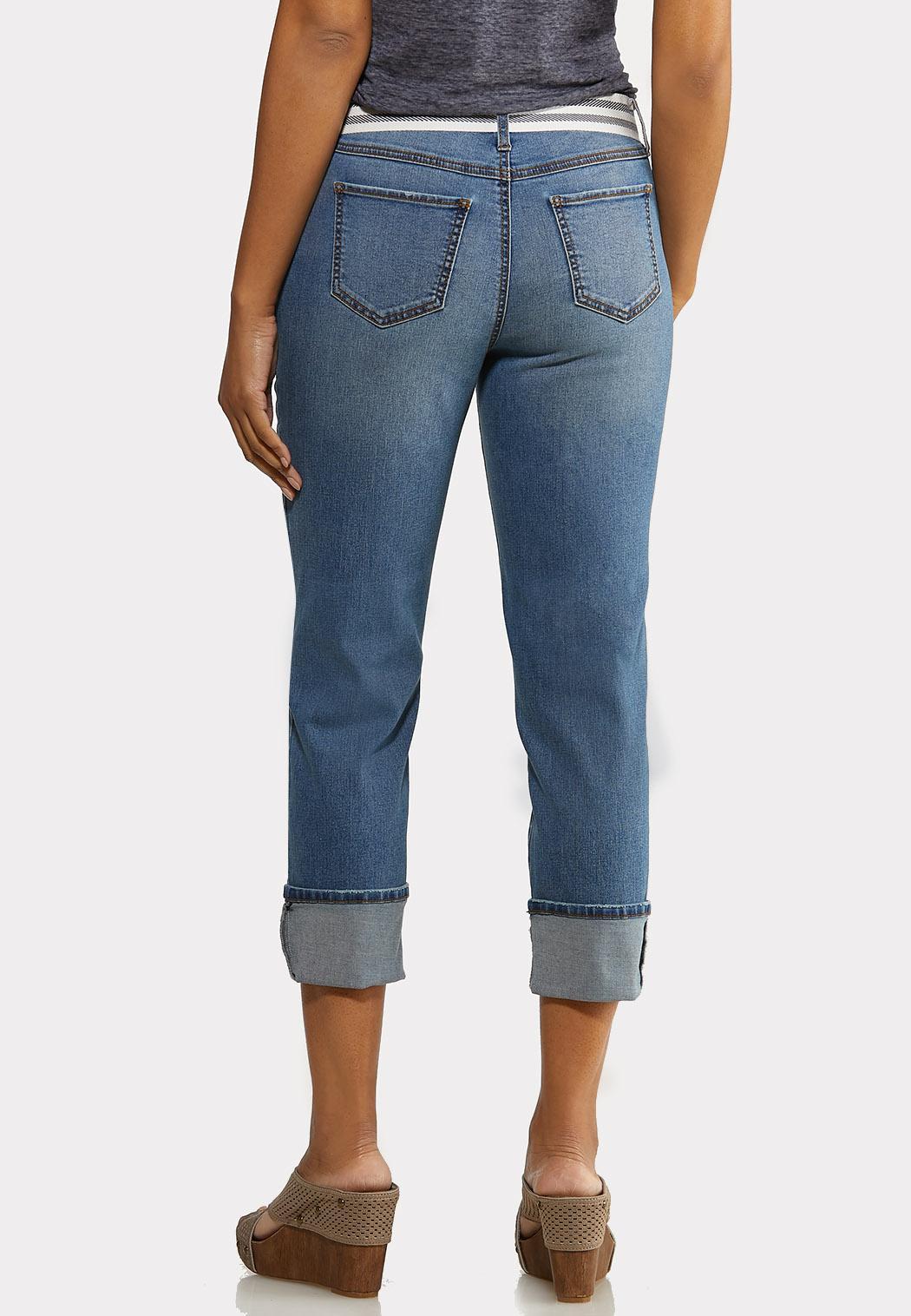 Belted Boyfriend Jeans (Item #44125023)