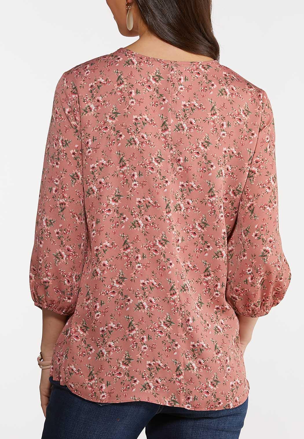 Plus Size Romantic Rose Top (Item #44125816)