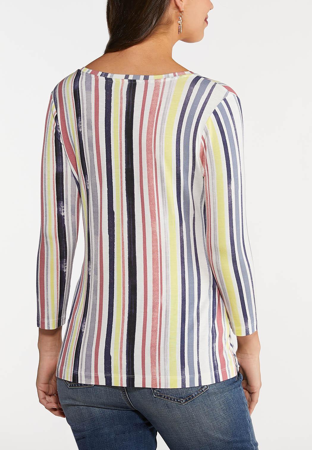 Faded Multi Stripe Top (Item #44125996)