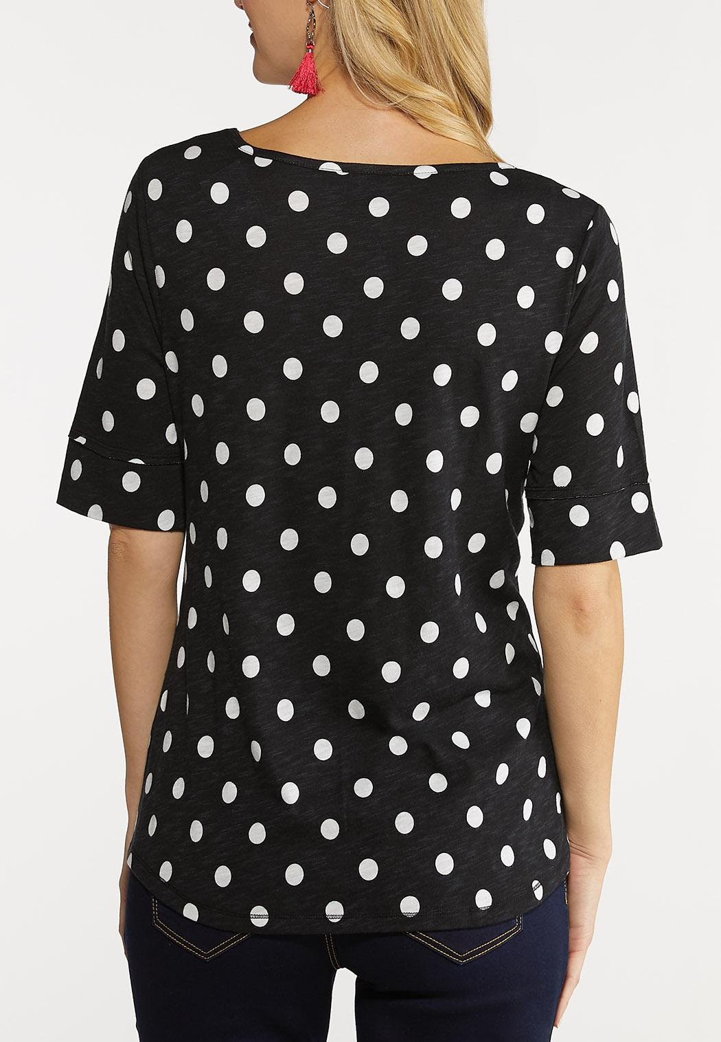 Plus Size Polka Dotted Top (Item #44126831)