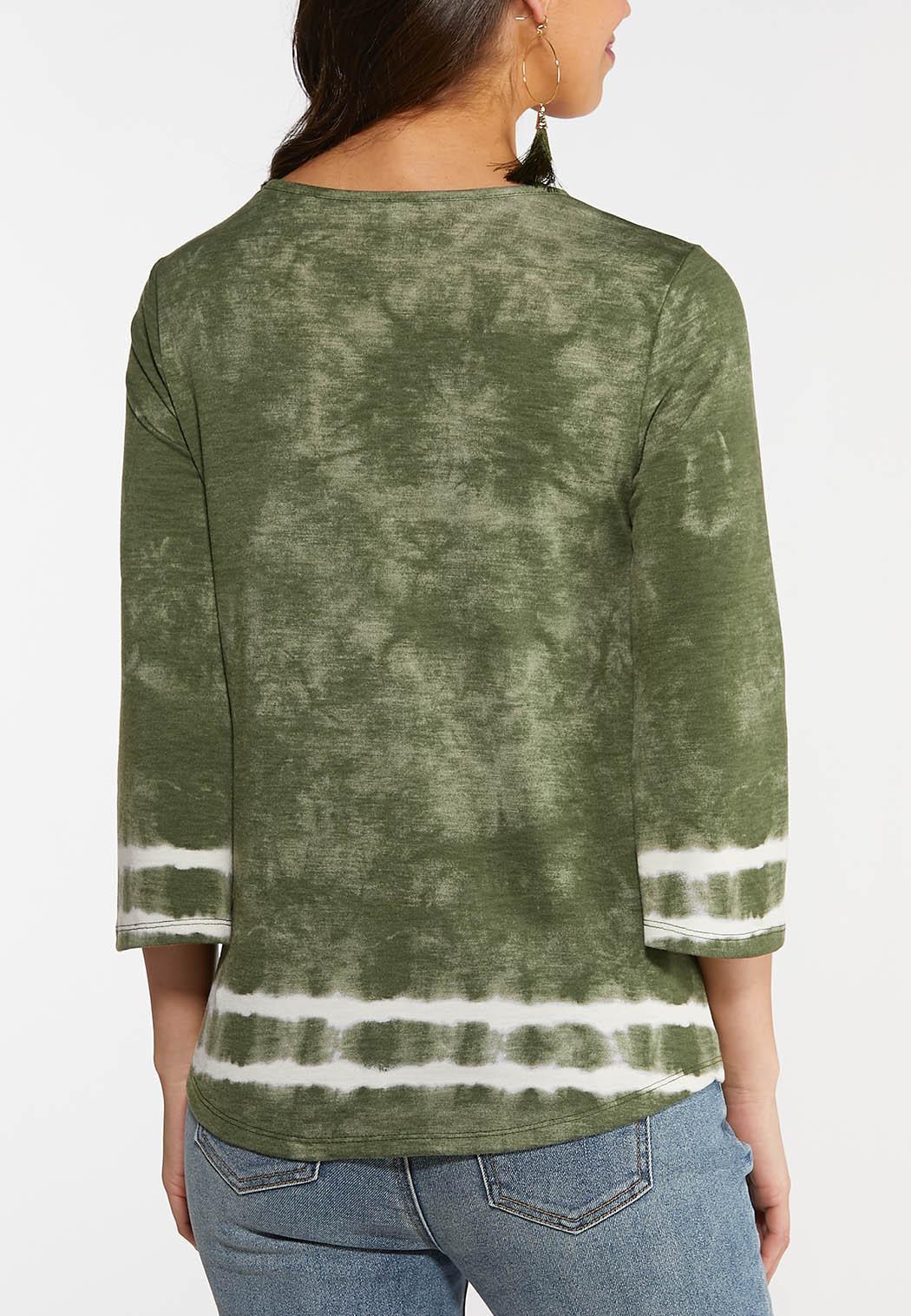 Plus Size Tie Dye Cutout Top (Item #44127338)