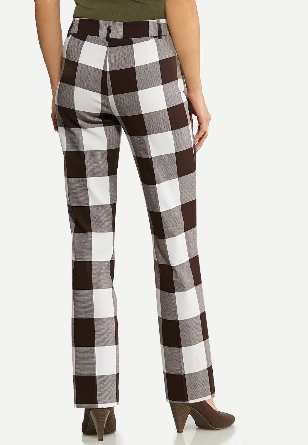 Brown Check Bengaline Pants (Item #44127379)