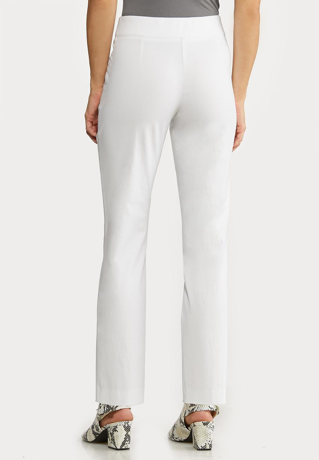 White Bengaline Ankle Pants (Item #44127455)