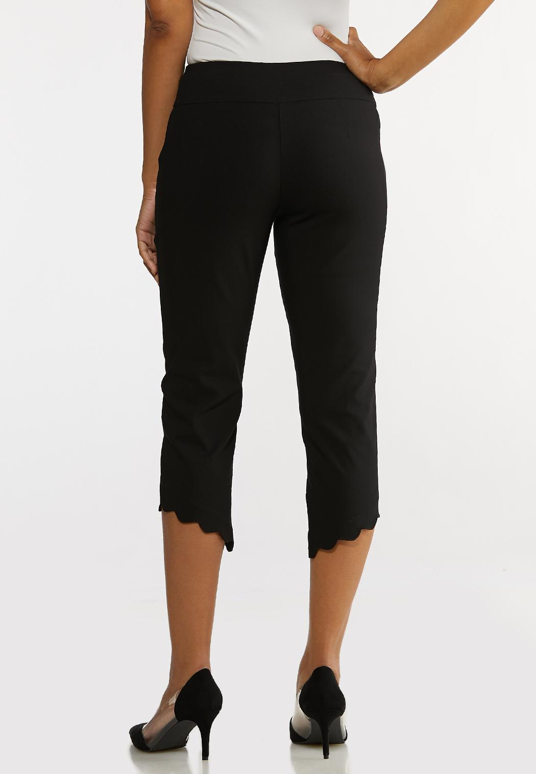 Cropped Scalloped Hem Pants (Item #44128436)