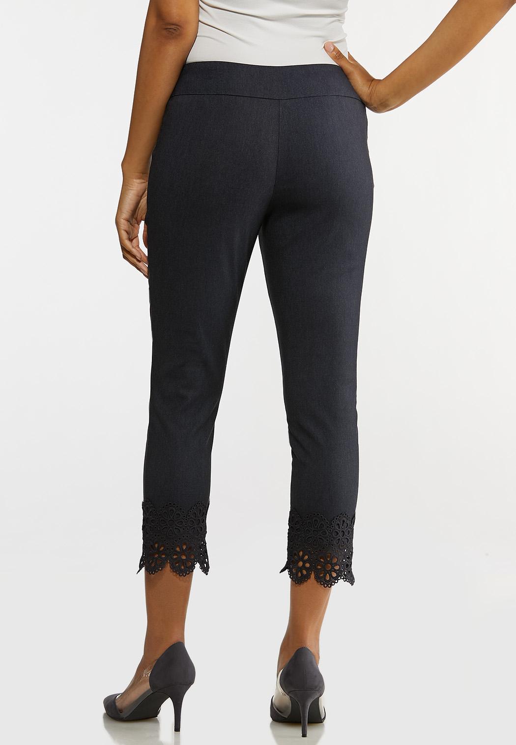 Crochet Hem Bengaline Pants (Item #44128565)