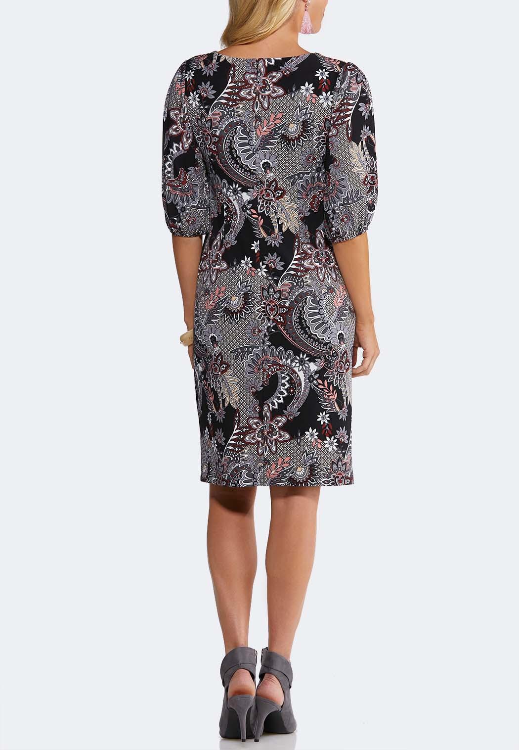 Paisley Puff Sleeve Dress (Item #44129565)